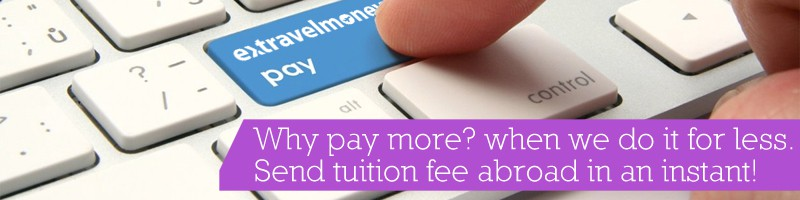 pay international tuition fee from India